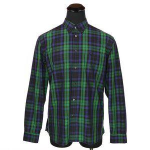 Fred Perry Button Down Shirt Blackwatch Tartan XL